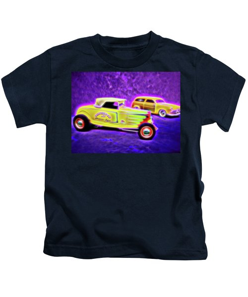 32 Roadster And 49 Woody Kids T-Shirt