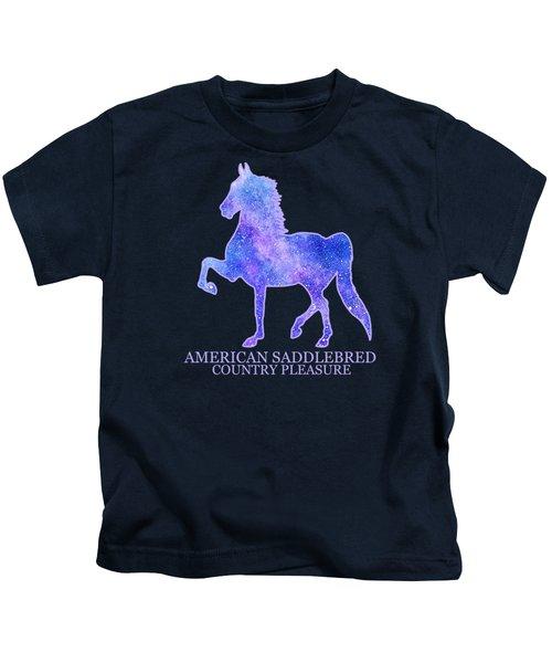 American Saddlebred Country Pleasure - Galaxy Kids T-Shirt