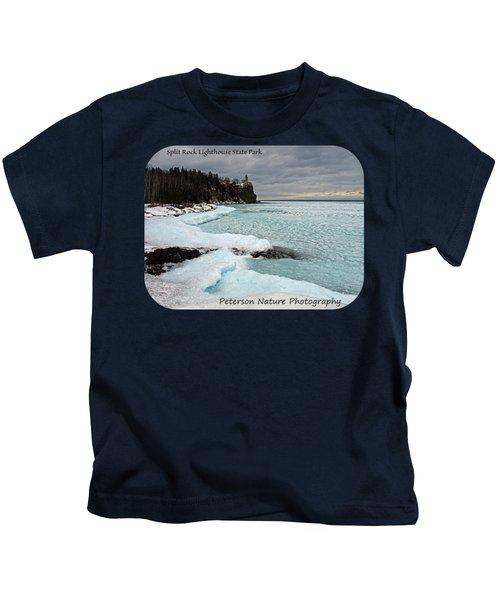 Aqua Ice At Split Rock Lighthouse Kids T-Shirt
