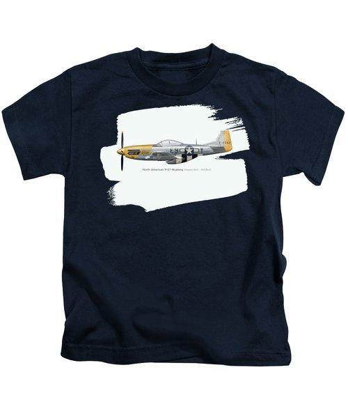 P-51 Mustang Heaven Sent - Hell Bent Version 2 Kids T-Shirt