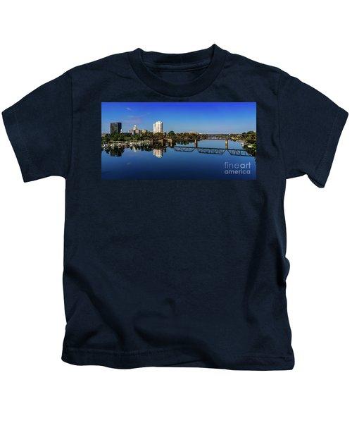 Augusta Ga Savannah River Panorama Kids T-Shirt