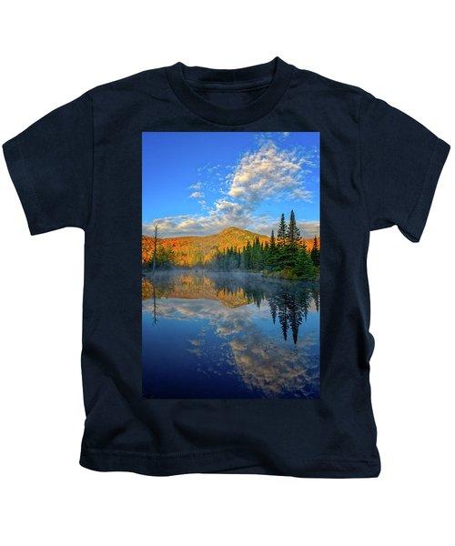Autumn Sky, Mountain Pond Kids T-Shirt