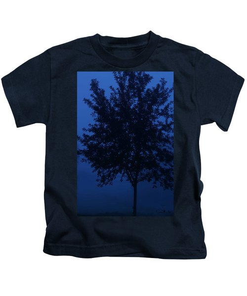 Blue Cherry Tree Kids T-Shirt