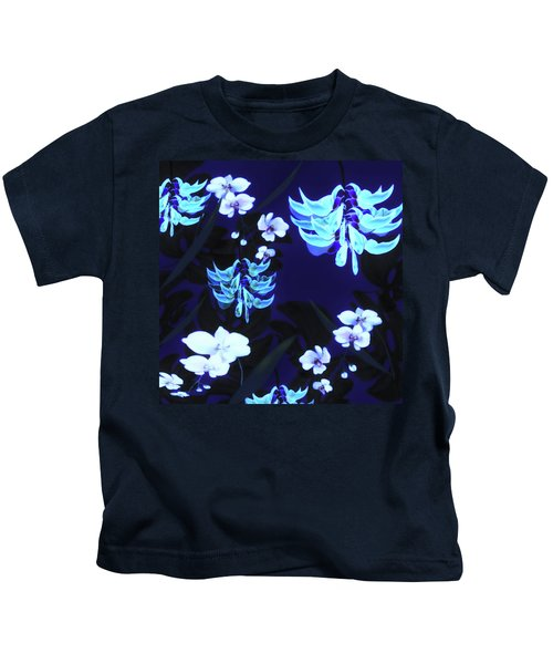 Blue Jungle Floral Kids T-Shirt