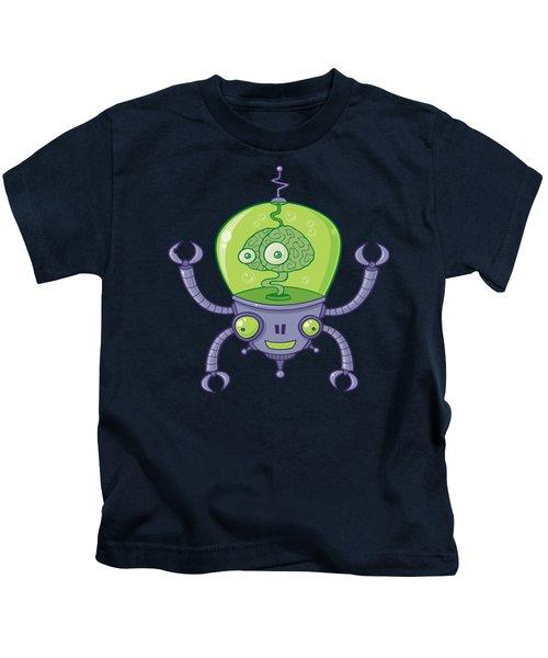 Brainbot Robot With Brain Kids T-Shirt