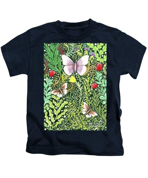 Butterflies In The Millefleurs Kids T-Shirt