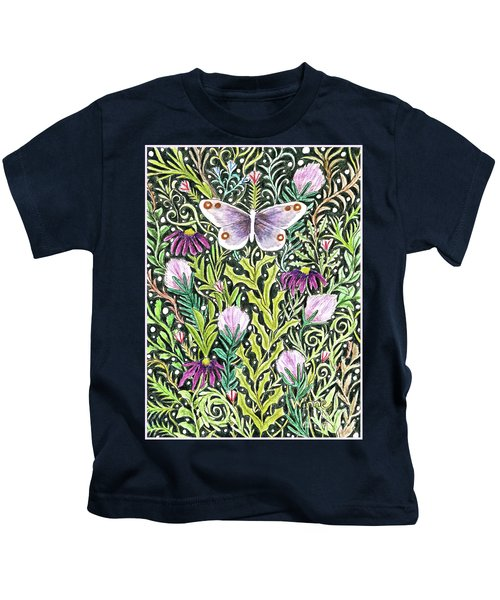 Butterfly Tapestry Design Kids T-Shirt