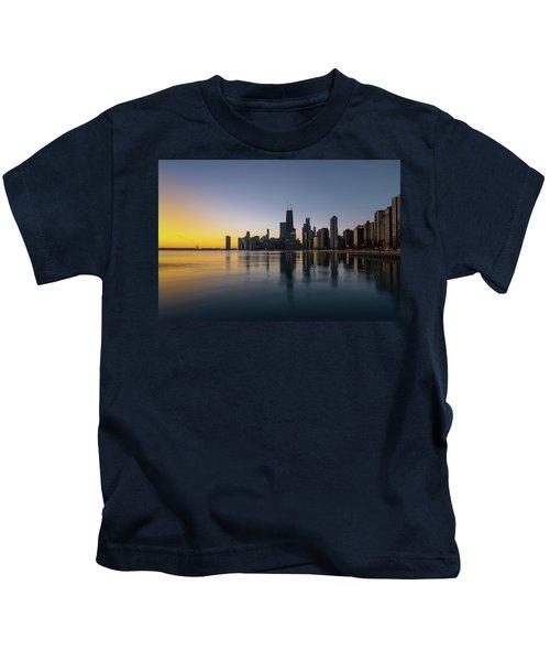 Chicago Lakefront Dawn Kids T-Shirt