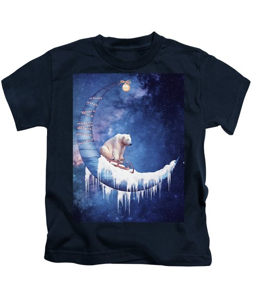 Christmas On The Moon Kids T-Shirt