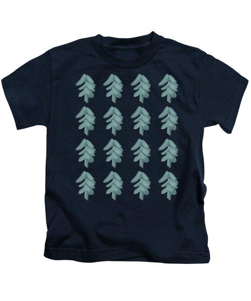 Christmas Tree Pattern Kids T-Shirt