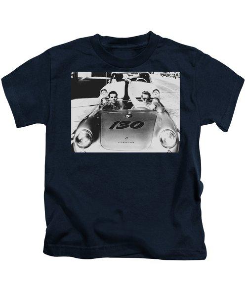 Classic James Dean Porsche Photo Kids T-Shirt