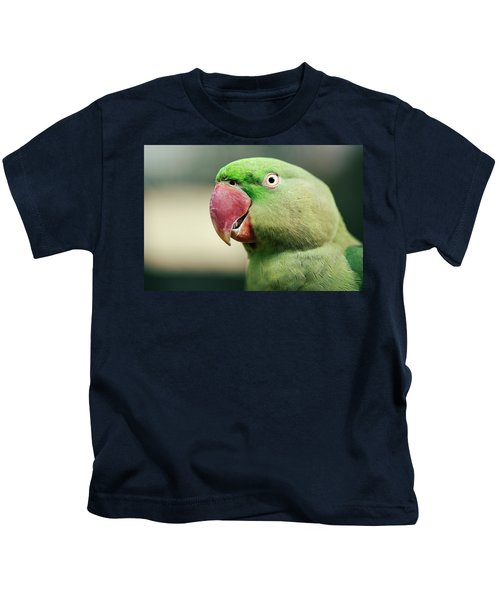 Close Up Of A King Parrot Kids T-Shirt