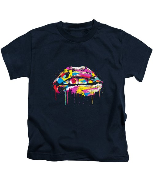 Colorful Lips Kids T-Shirt