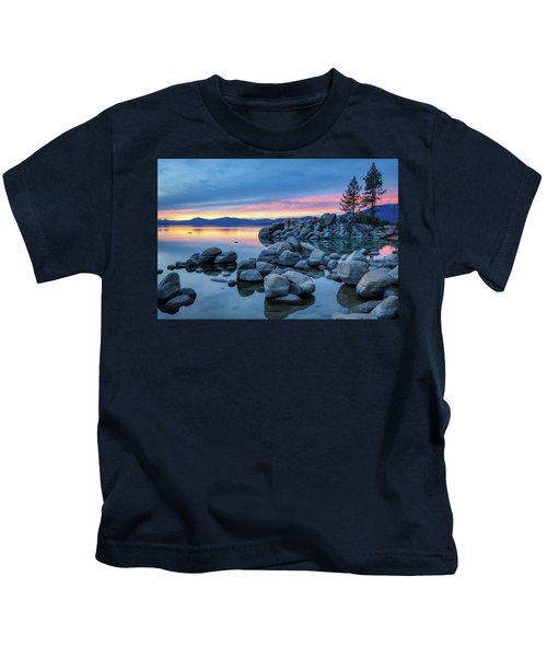Colorful Sunset At Sand Harbor Kids T-Shirt