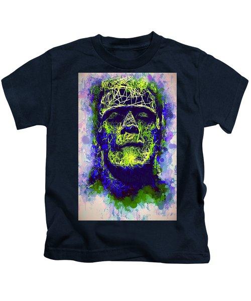 Frankenstein Watercolor Kids T-Shirt