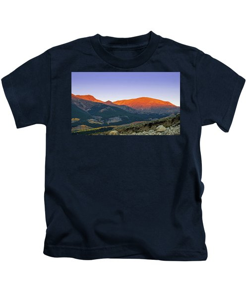 Dawn In The Sawatch Range Kids T-Shirt