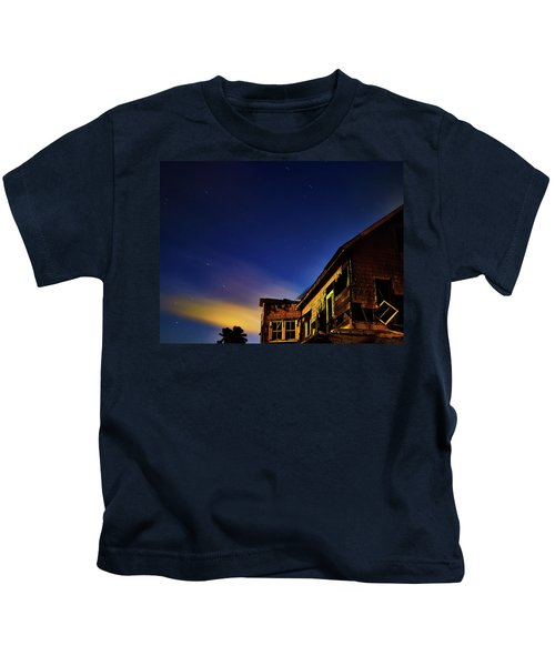Decaying House In The Moonlight Kids T-Shirt