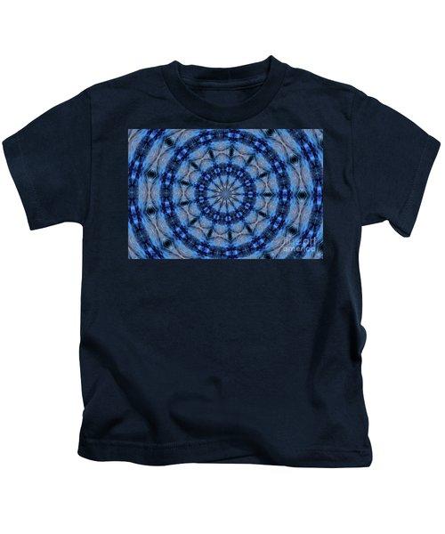 Blue Jay Mandala Kids T-Shirt