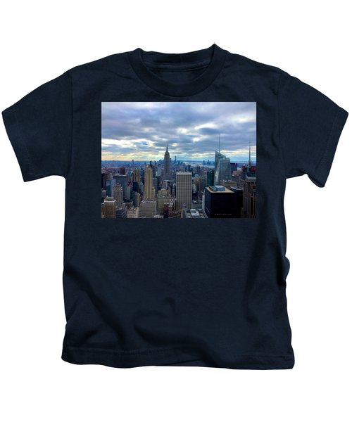 Kids T-Shirt featuring the photograph Empire State by Chris Montcalmo