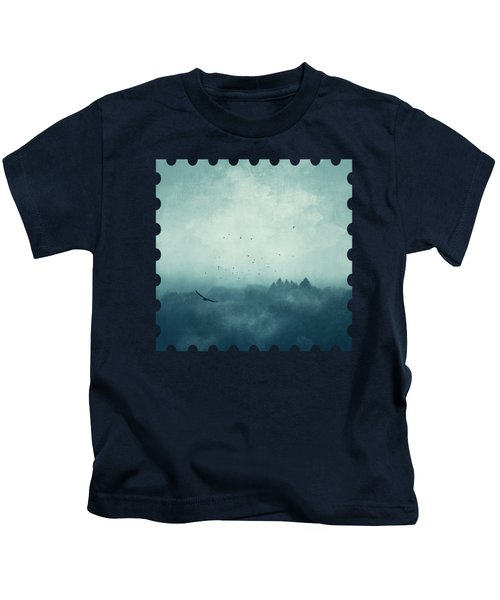 Flight Home - Mist Over Landscape Kids T-Shirt