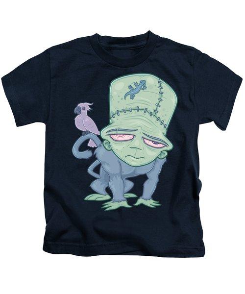 Frunkee - Frankenstein Monkey Creature Kids T-Shirt