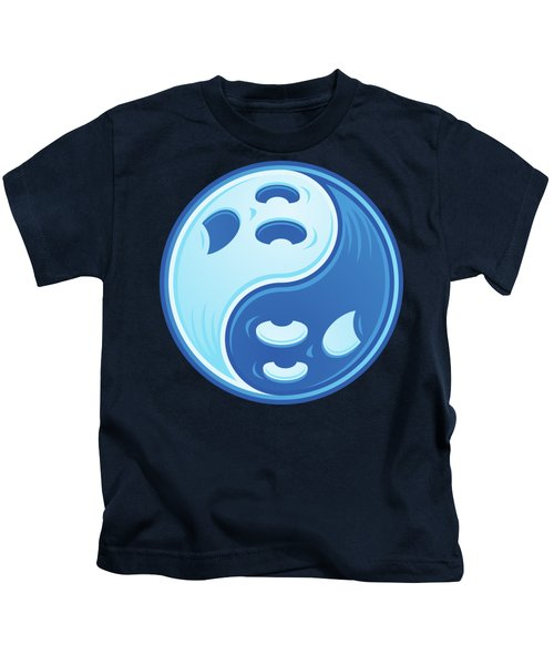 Ghost Yin Yang Kids T-Shirt