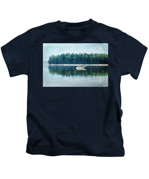 Glacier National Park Lake Reflections Kids T-Shirt