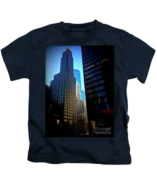 Golden Hour Reflections - City Of Chicago Kids T-Shirt