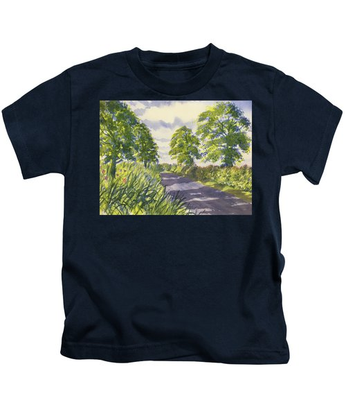 Hedgerows On Rudston Road Kids T-Shirt