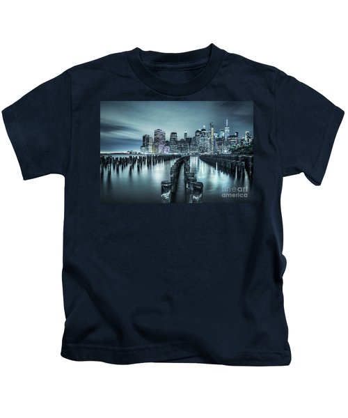 Into The Blue Night Kids T-Shirt