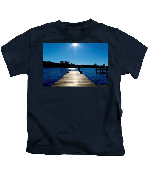 Kids T-Shirt featuring the photograph Inverness Dock by Chris Montcalmo