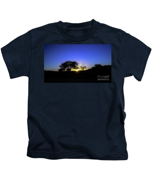 Last Light Texas Hill Country Paradise Canyon Sunset 8053a Kids T-Shirt