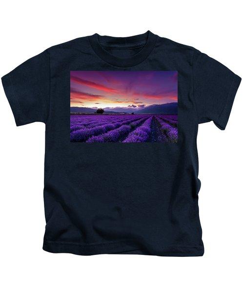 Lavender Season Kids T-Shirt