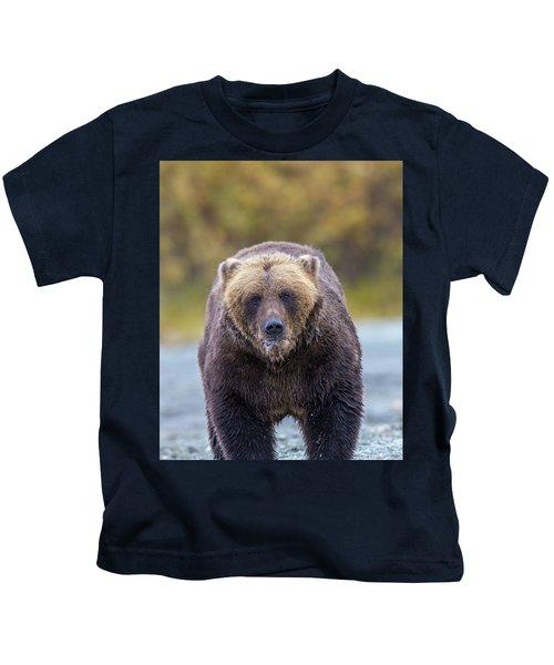 Lazy C Angry Bear  Kids T-Shirt