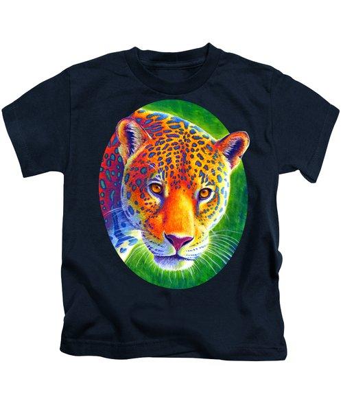 Light In The Rainforest - Jaguar Kids T-Shirt