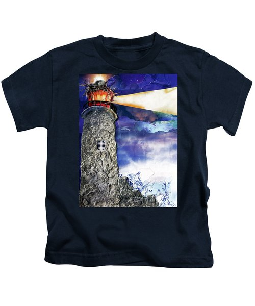 Light Of The World Torn Paper Collage Kids T-Shirt