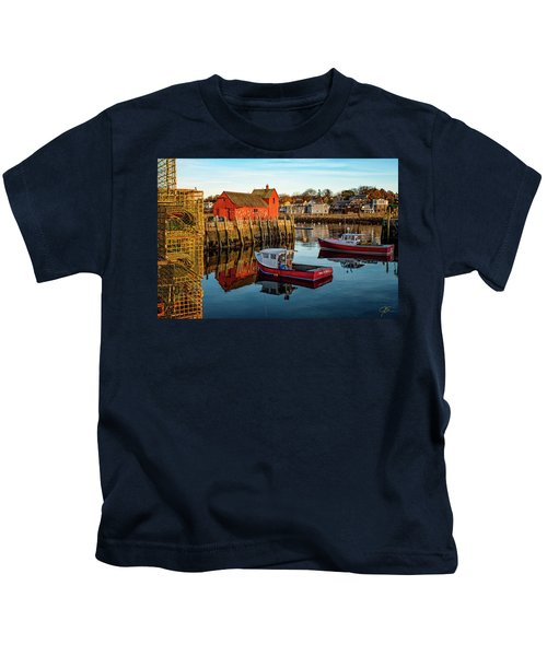 Lobster Traps, Lobster Boats, And Motif #1 Kids T-Shirt