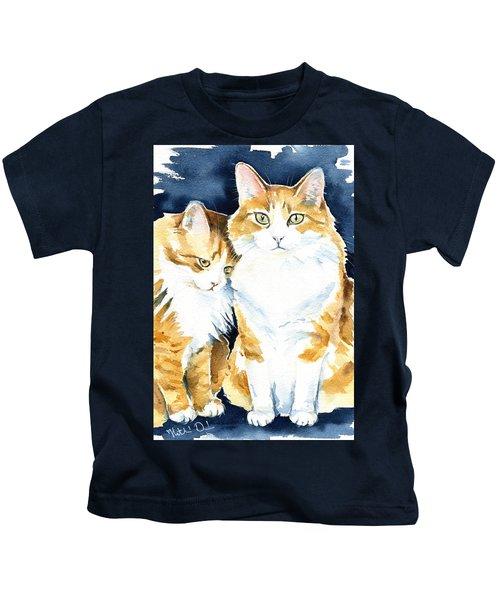 Love Me Meow Cat Painting Kids T-Shirt