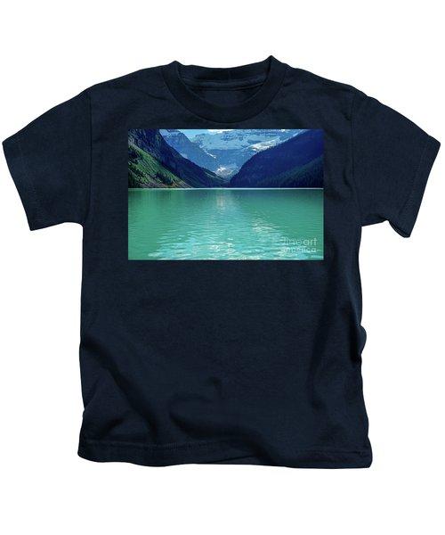 Magic At Lake Louise Kids T-Shirt