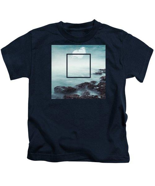 Merging Sea And Sky Kids T-Shirt