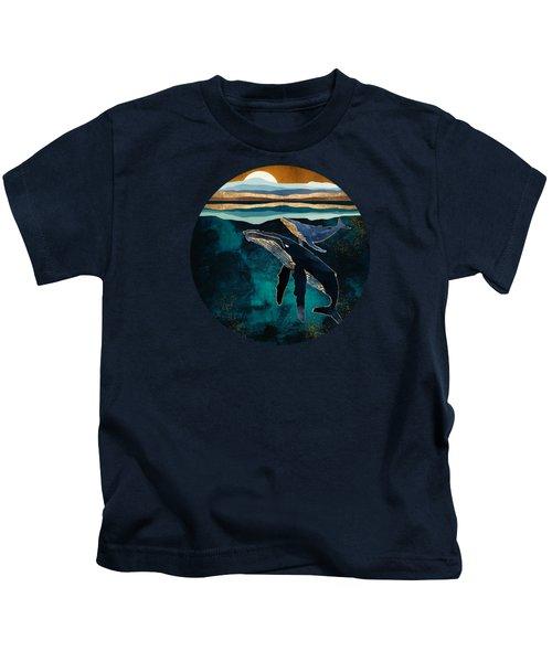 Moonlit Whales Kids T-Shirt