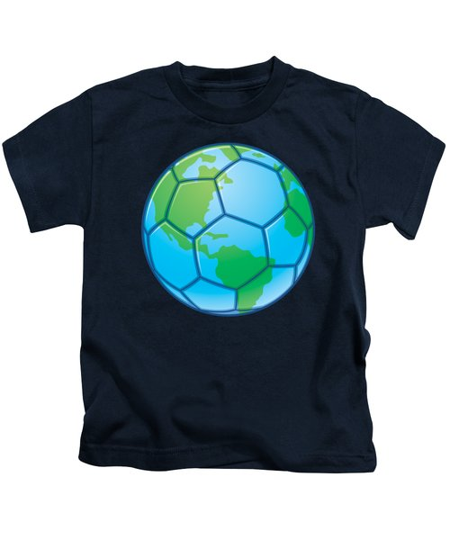 Planet Earth World Cup Soccer Ball Kids T-Shirt