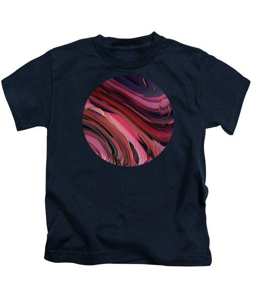Plum Abstract Kids T-Shirt