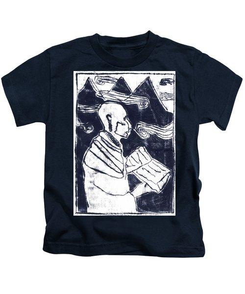 Poet Reading To Wind Clouds Otdv3 13 Kids T-Shirt