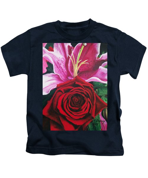 Scarlet Knight And A  Lily  Kids T-Shirt
