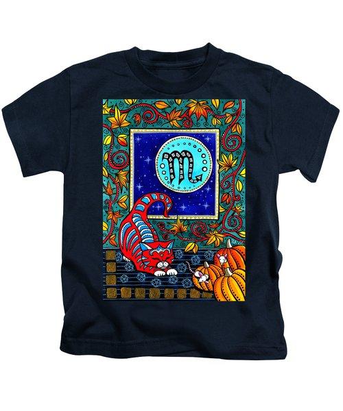 Scorpio Cat Zodiac Kids T-Shirt