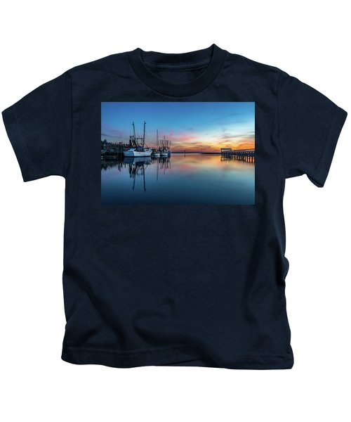Shem Creek Blue Hour, Mt. Pleasant Sc Kids T-Shirt