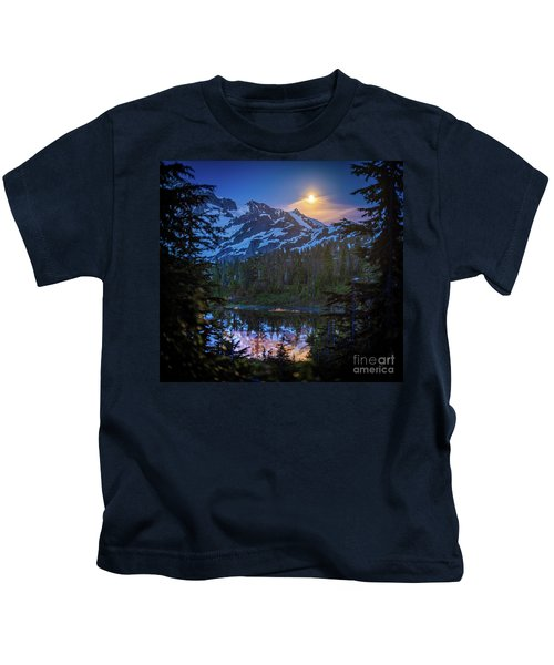 Shuksan Picture Lake Moonrise Kids T-Shirt