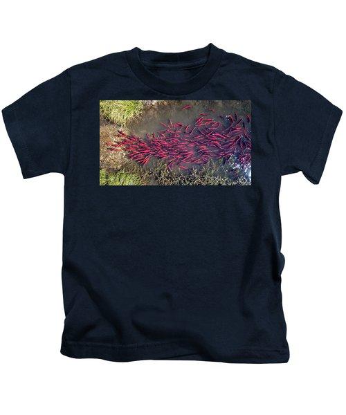 Spawning Kokanee Salmon Kids T-Shirt