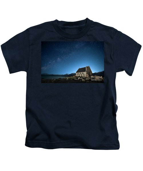 Stars And Midnight Blue Kids T-Shirt